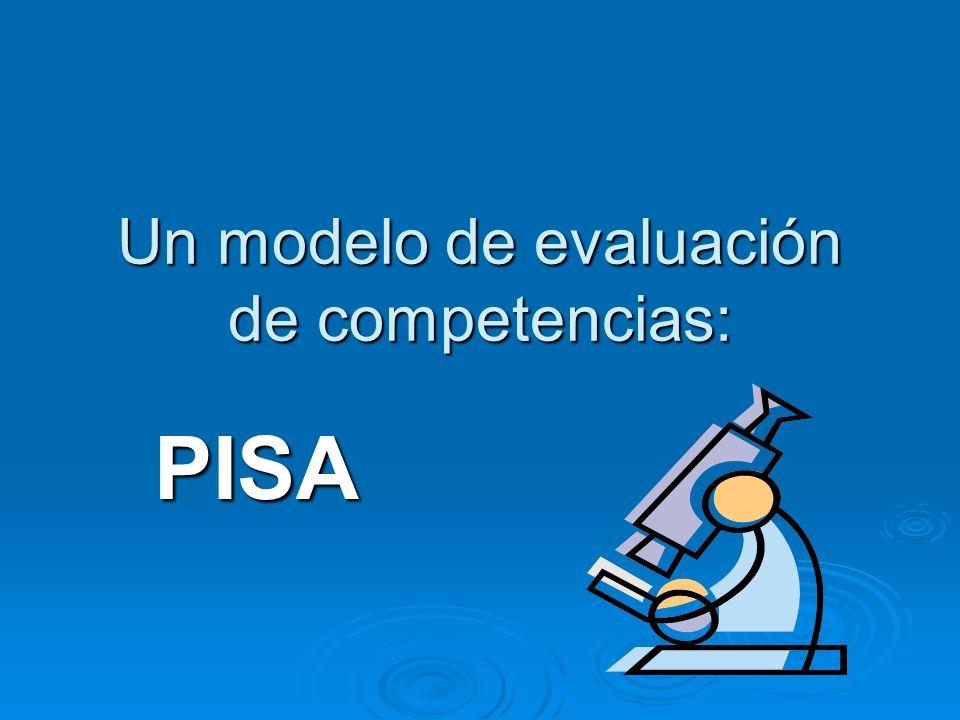 Un modelo de evaluación de competencias: