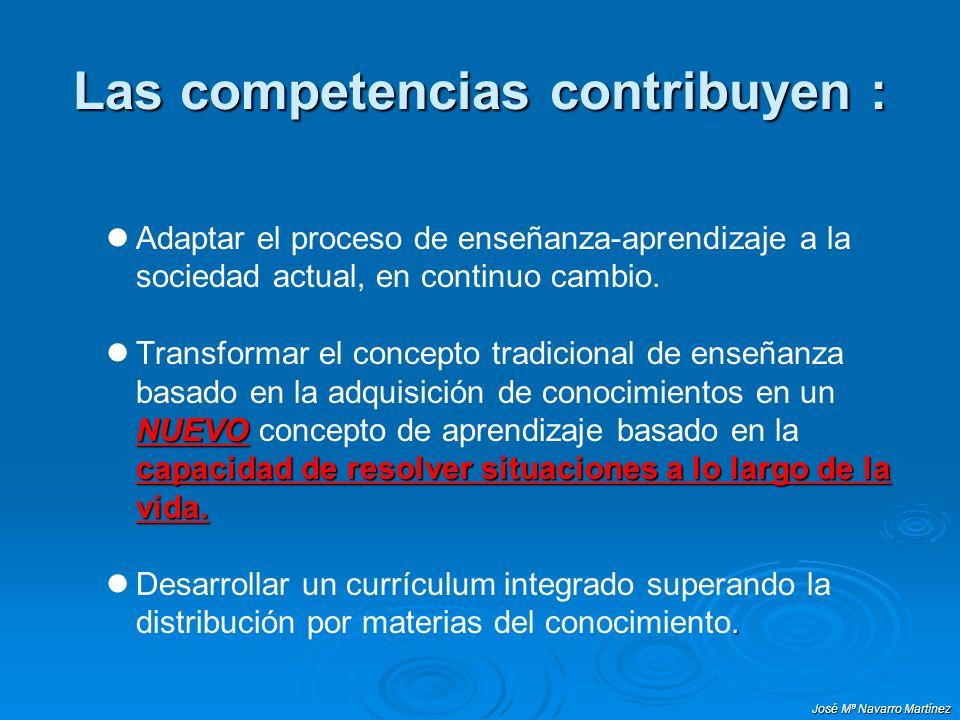Las competencias contribuyen :