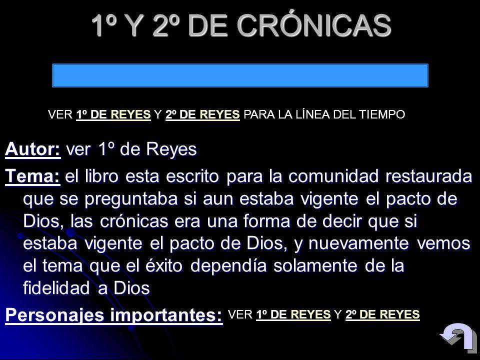 1º Y 2º DE CRÓNICAS VER 1º DE REYES Y 2º DE REYES PARA LA LÍNEA DEL TIEMPO.
