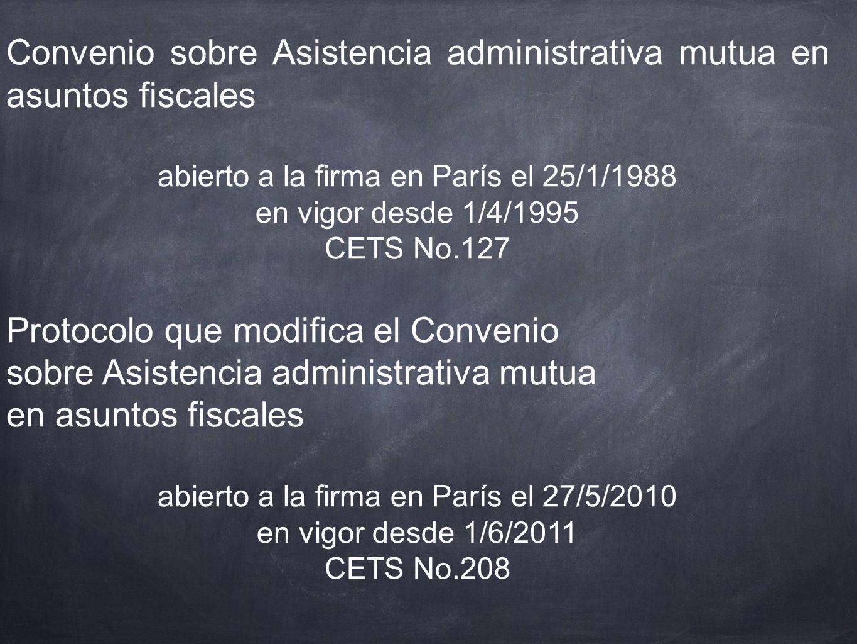 Convenio sobre Asistencia administrativa mutua en asuntos fiscales