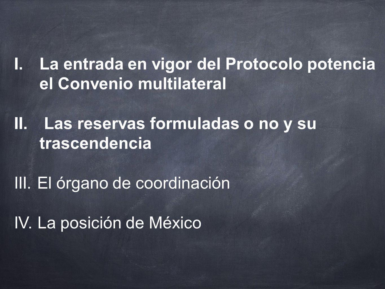 La entrada en vigor del Protocolo potencia el Convenio multilateral