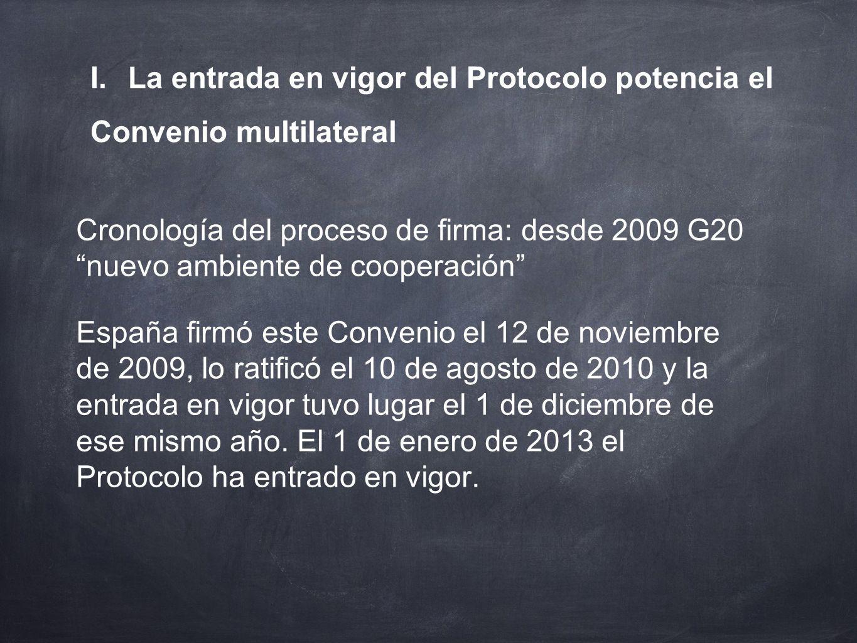 I. La entrada en vigor del Protocolo potencia el Convenio multilateral