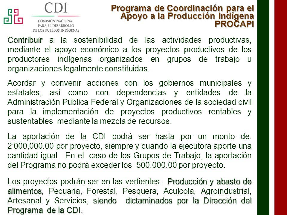 Programa de Coordinación para el Apoyo a la Producción Indígena PROCAPI