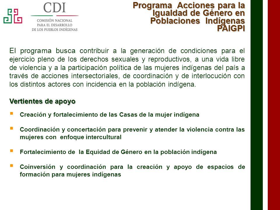 Programa Acciones para la Igualdad de Género en Poblaciones Indígenas PAIGPI