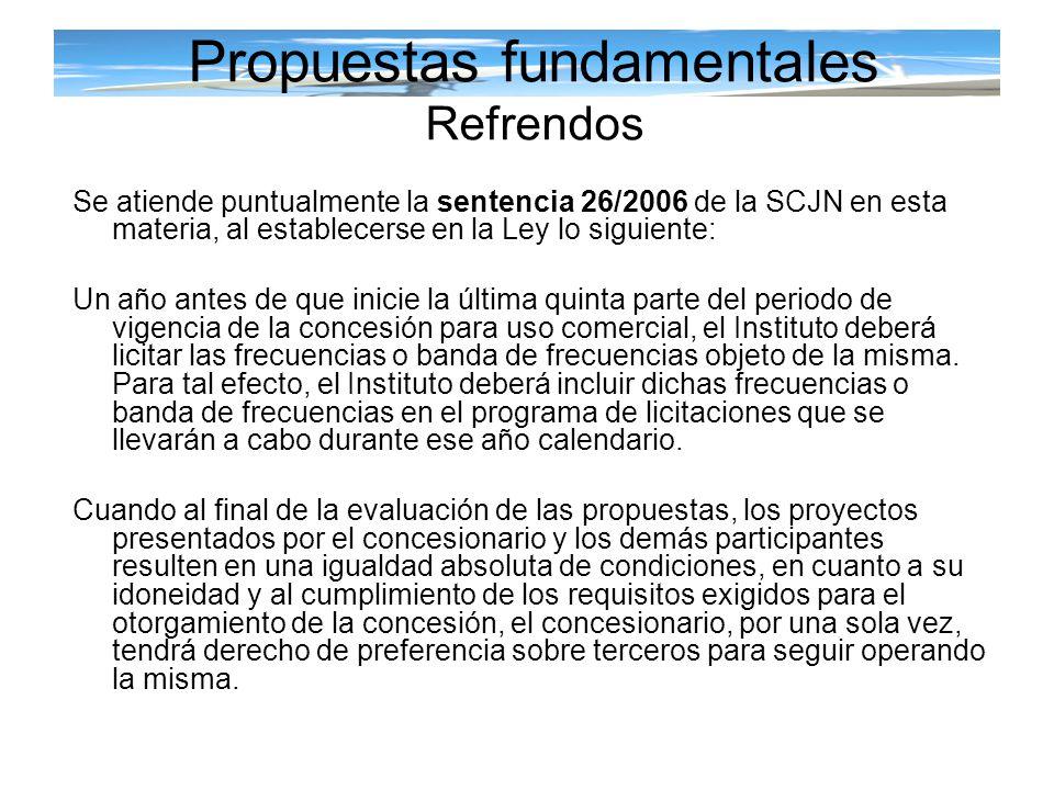 Propuestas fundamentales Refrendos