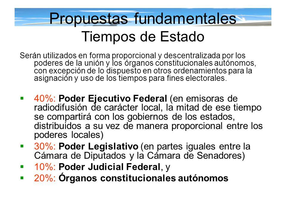 Propuestas fundamentales Tiempos de Estado