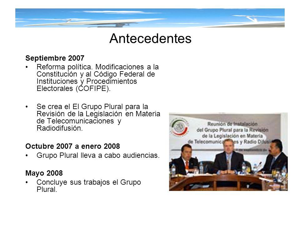 Antecedentes Septiembre 2007