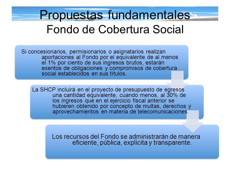 Propuestas fundamentales Fondo de Cobertura Social