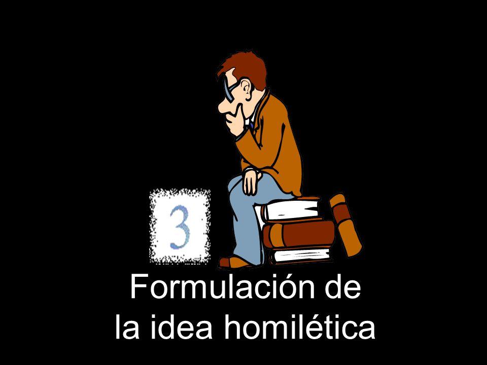 Formulación de la idea homilética