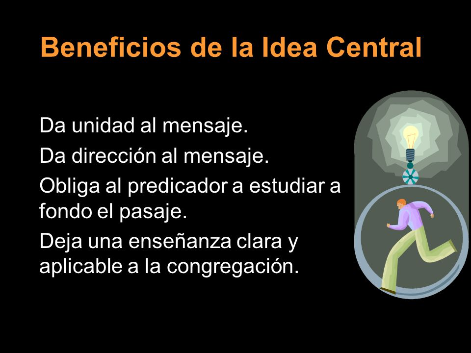 Beneficios de la Idea Central