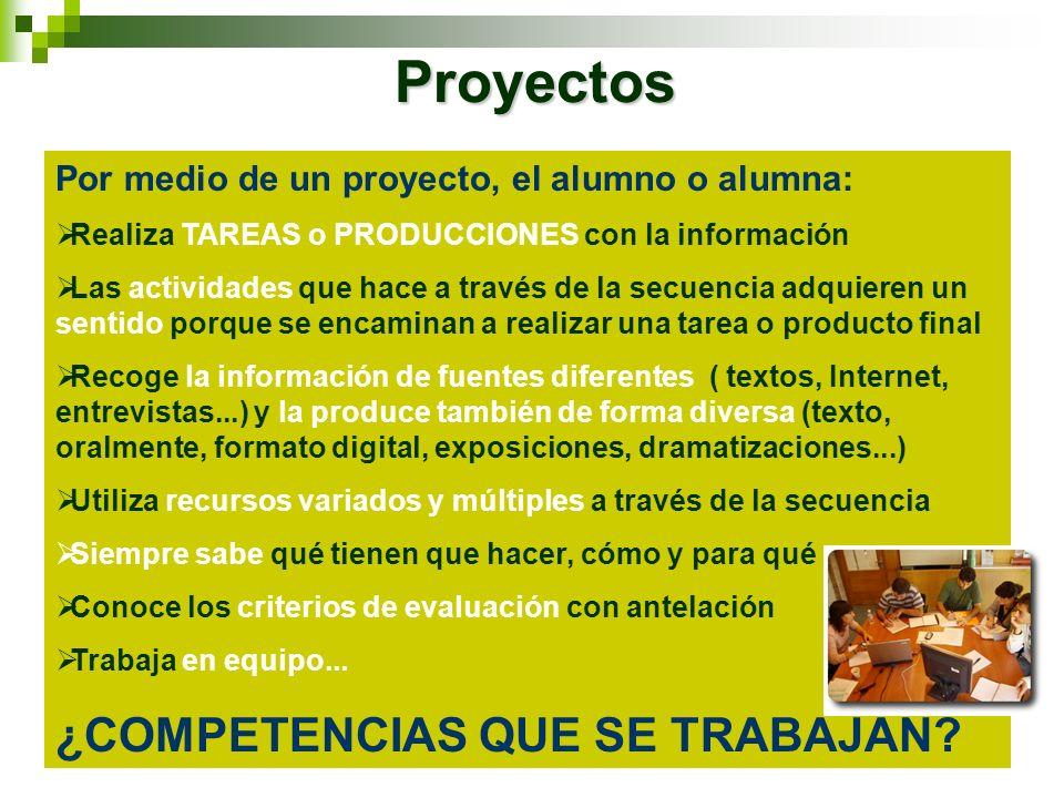 Proyectos ¿COMPETENCIAS QUE SE TRABAJAN