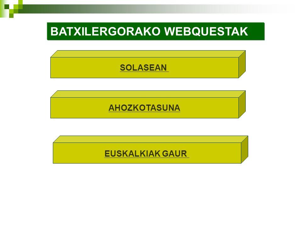 BATXILERGORAKO WEBQUESTAK