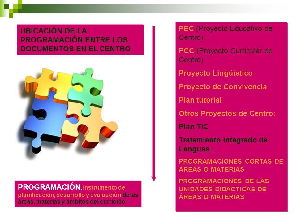 PEC (Proyecto Educativo de Centro) PCC (Proyecto Curricular de Centro)