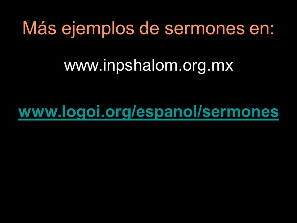 Más ejemplos de sermones en:
