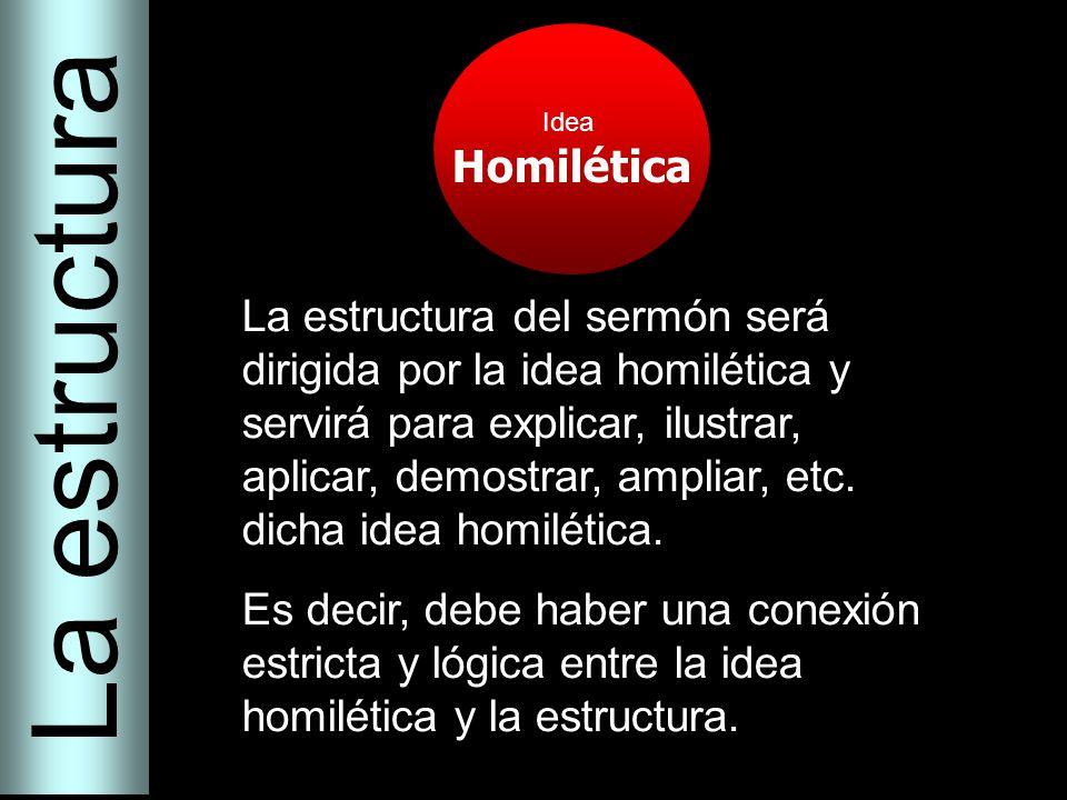 La estructura Homilética