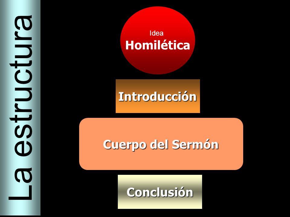 La estructura Homilética Introducción Cuerpo del Sermón Conclusión