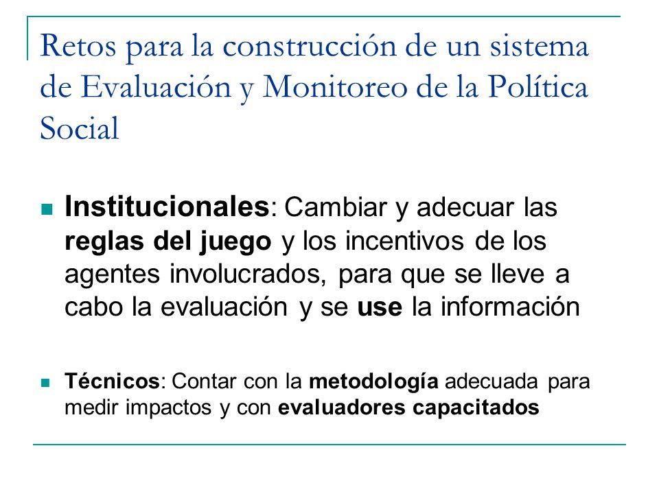 Retos para la construcción de un sistema de Evaluación y Monitoreo de la Política Social