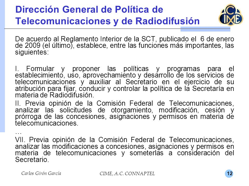 Dirección General de Política de Telecomunicaciones y de Radiodifusión