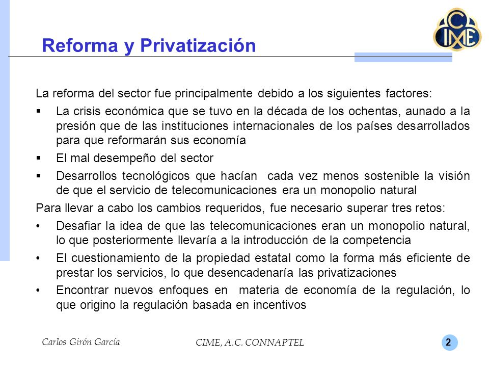 Reforma y Privatización