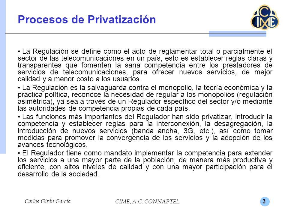Procesos de Privatización