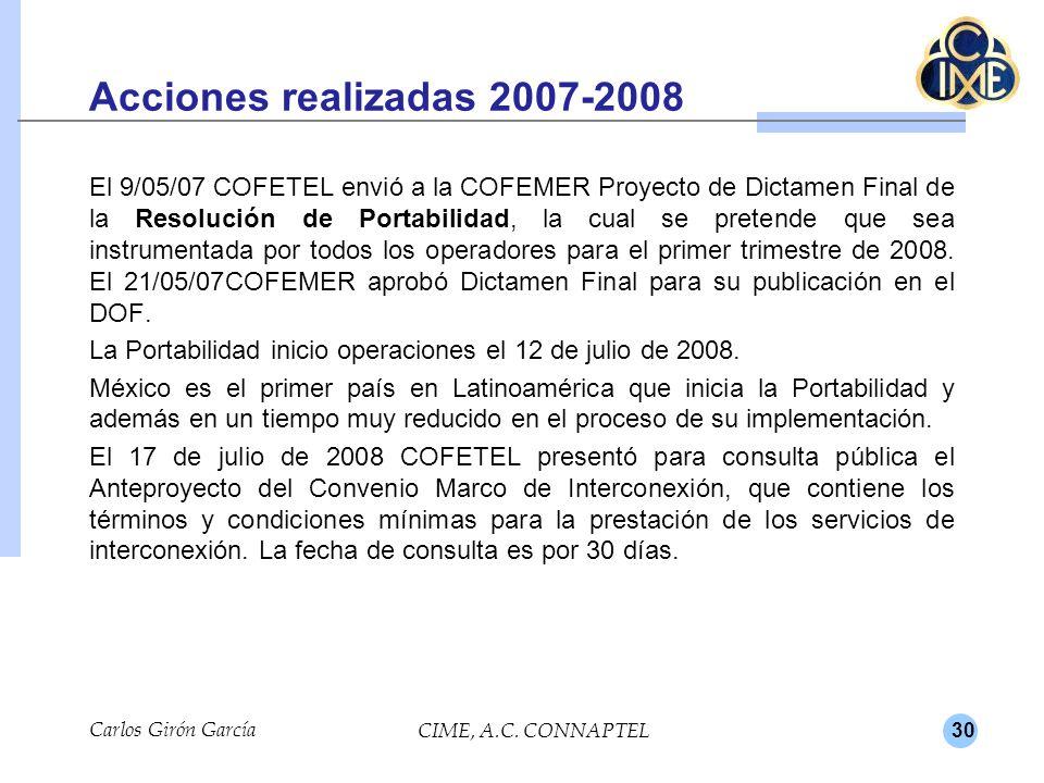 Acciones realizadas 2007-2008