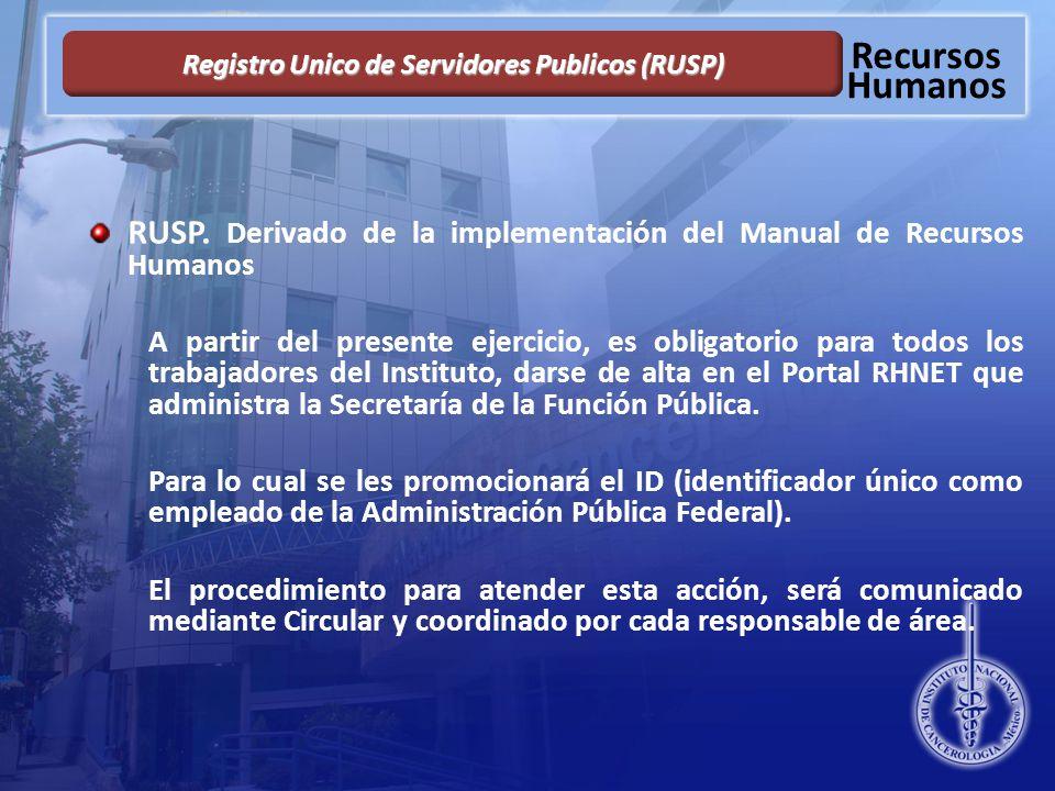 Registro Unico de Servidores Publicos (RUSP)