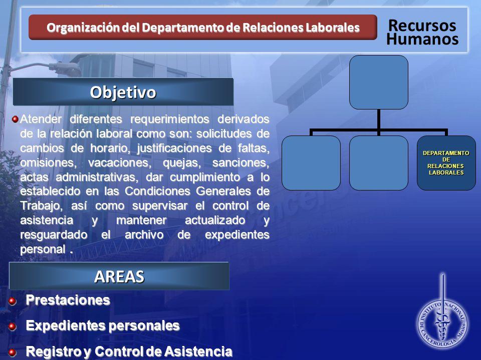 Organización del Departamento de Relaciones Laborales