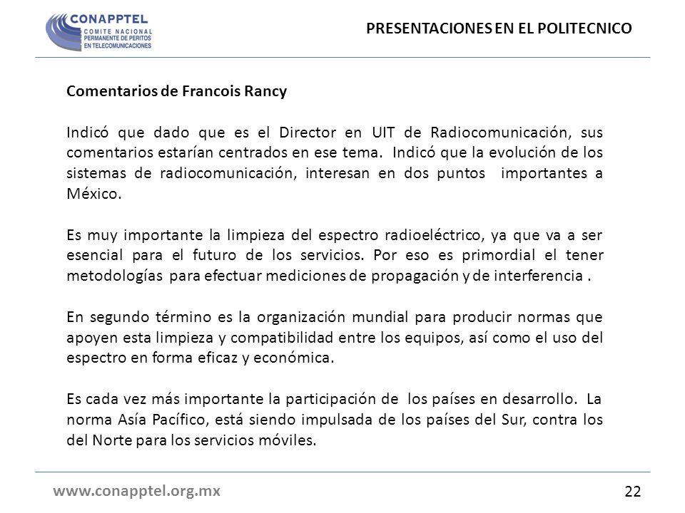 PRESENTACIONES EN EL POLITECNICO