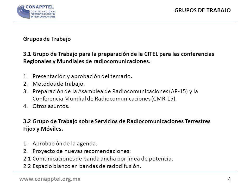 GRUPOS DE TRABAJO Grupos de Trabajo.