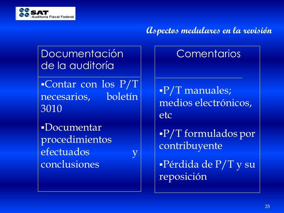 Documentación de la auditoría