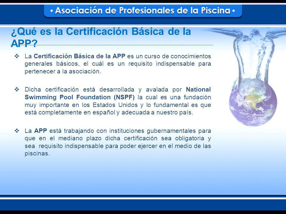 ¿Qué es la Certificación Básica de la APP