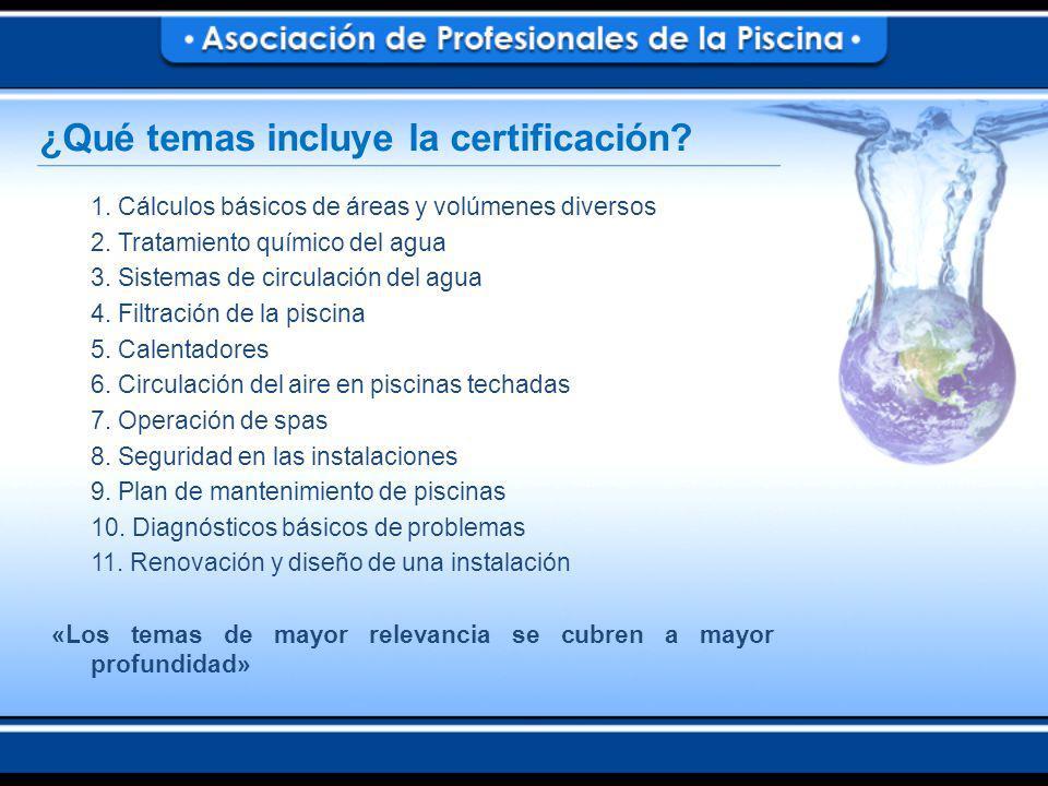 ¿Qué temas incluye la certificación