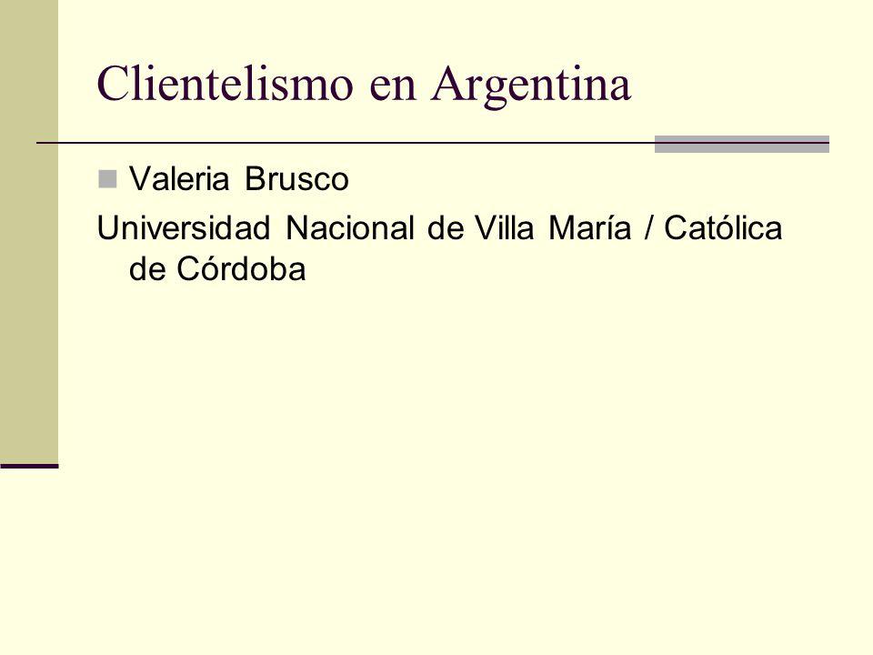 Clientelismo en Argentina