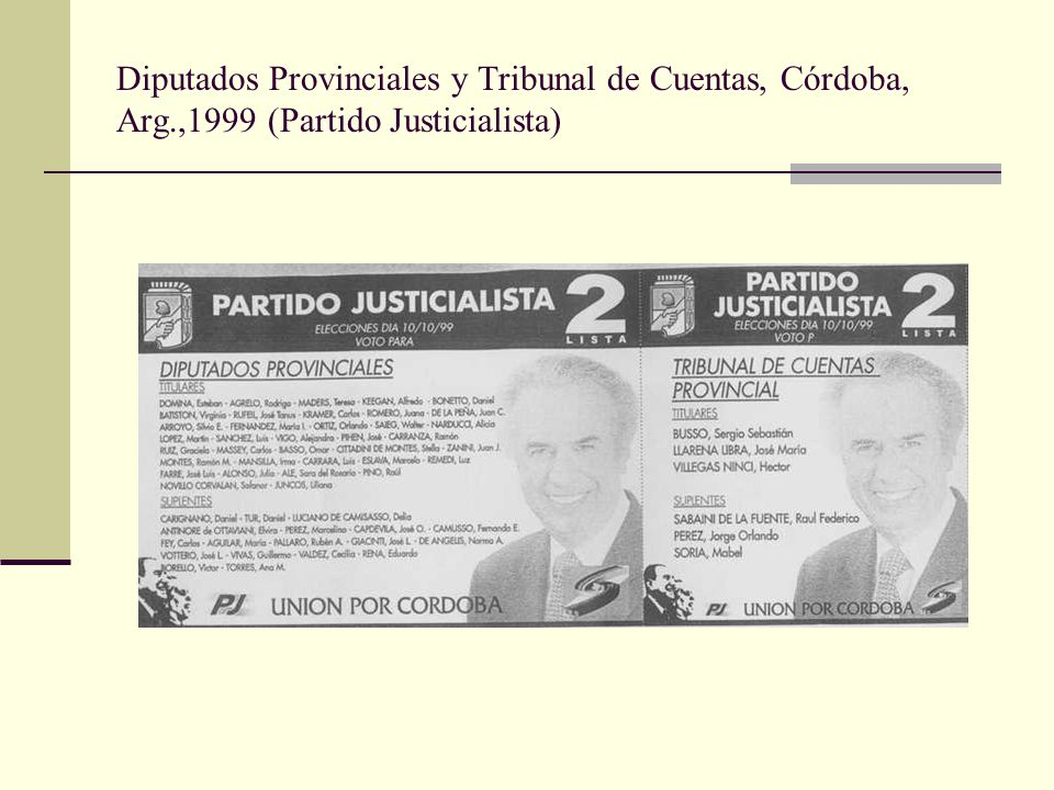 Diputados Provinciales y Tribunal de Cuentas, Córdoba, Arg
