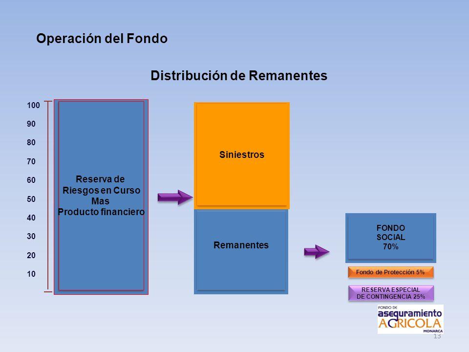 Distribución de Remanentes