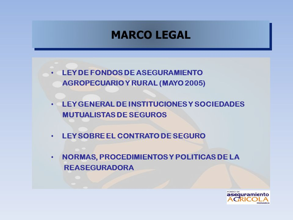 MARCO LEGAL LEY DE FONDOS DE ASEGURAMIENTO
