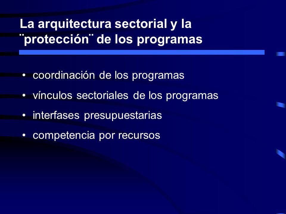 La arquitectura sectorial y la ¨protección¨ de los programas