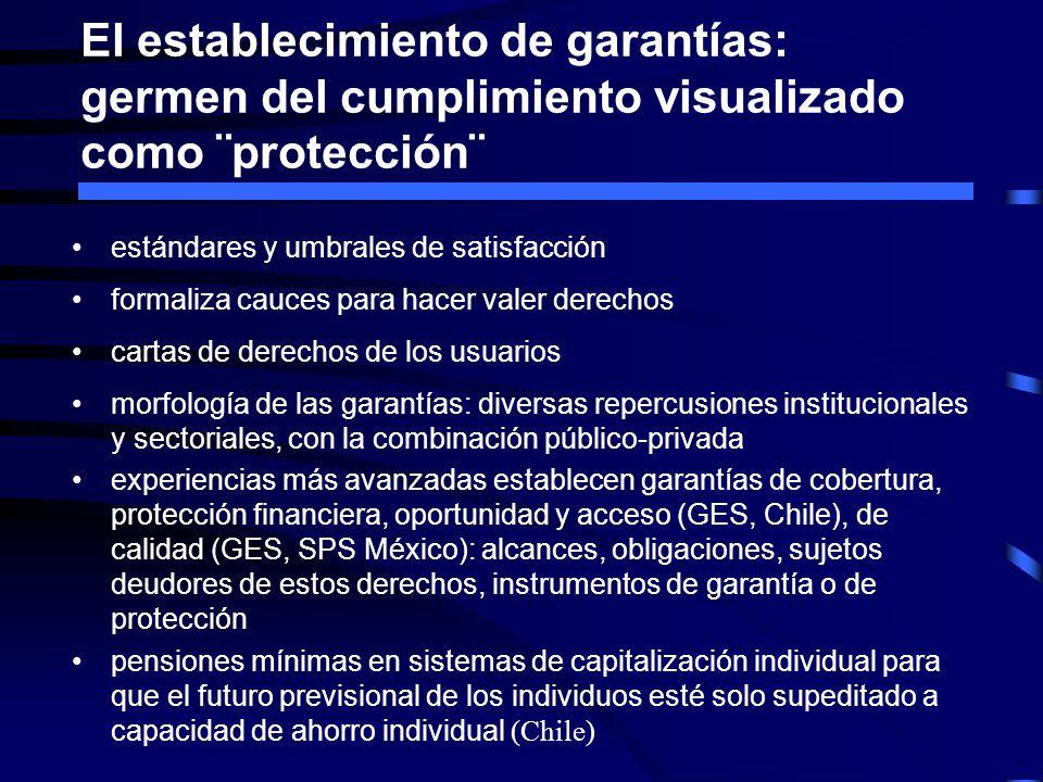 El establecimiento de garantías: germen del cumplimiento visualizado como ¨protección¨