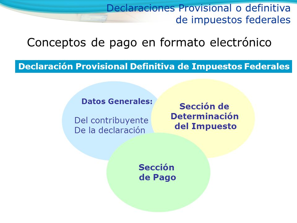 Conceptos de pago en formato electrónico