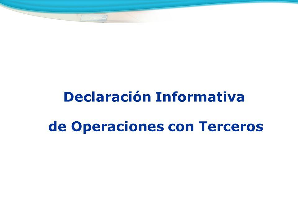 Declaración Informativa de Operaciones con Terceros