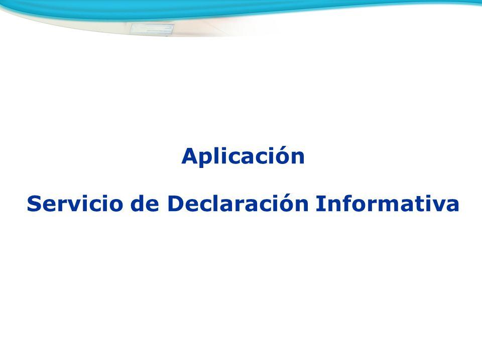 Servicio de Declaración Informativa
