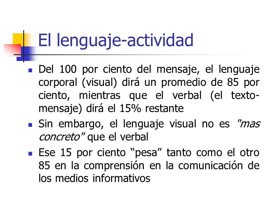 El lenguaje-actividad