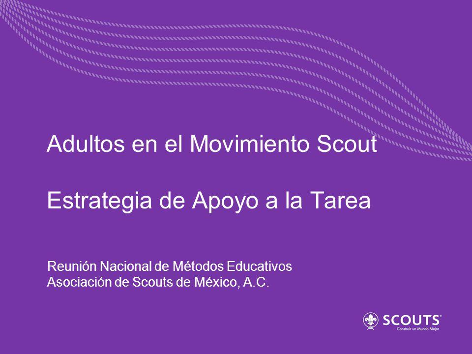 Adultos en el Movimiento Scout Estrategia de Apoyo a la Tarea