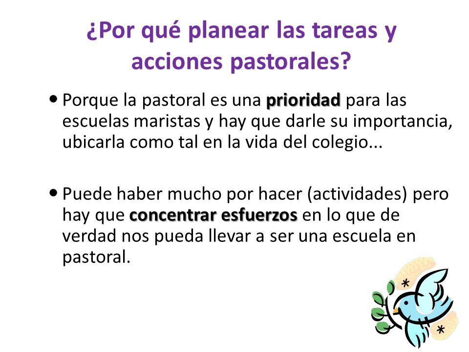 ¿Por qué planear las tareas y acciones pastorales