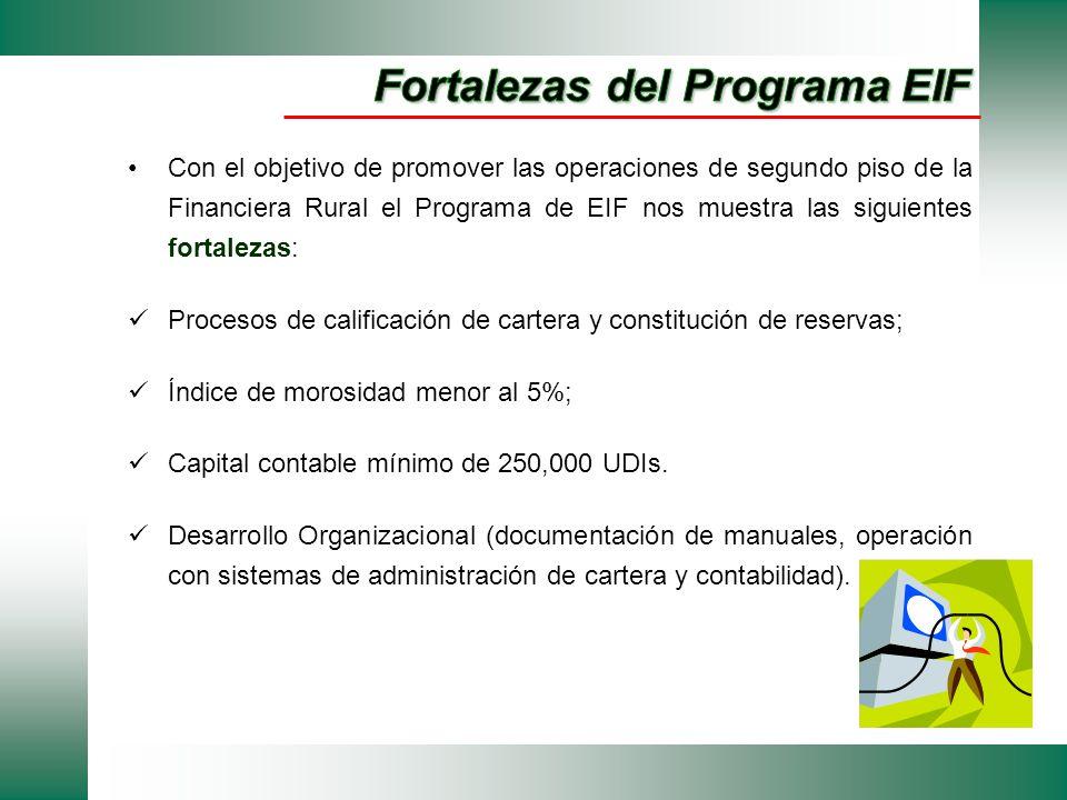 Fortalezas del Programa EIF