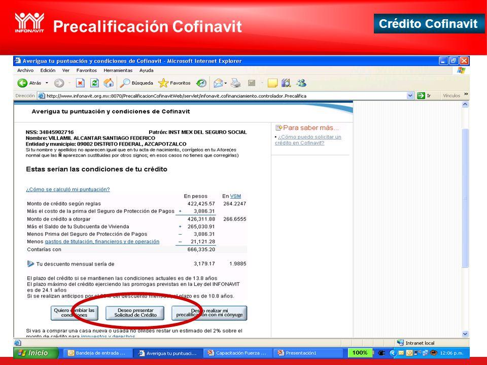 Precalificación Cofinavit