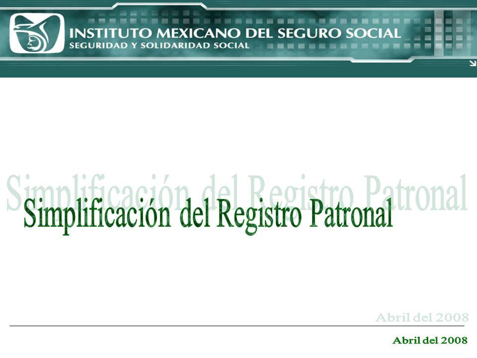 Simplificación del Registro Patronal