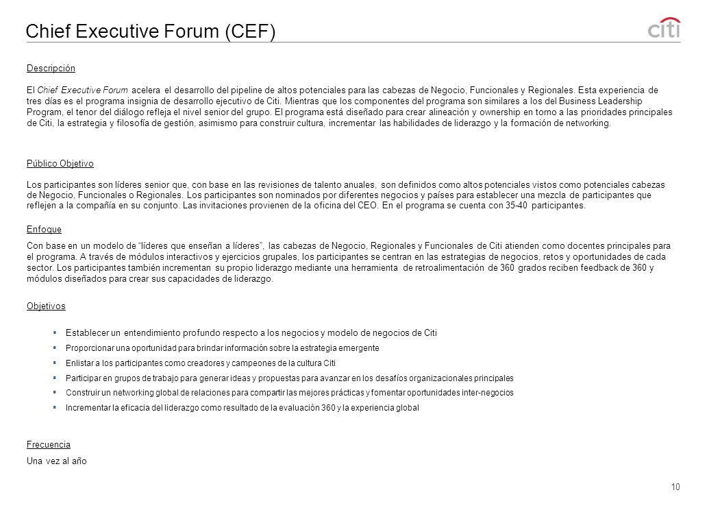 Chief Executive Forum (CEF)