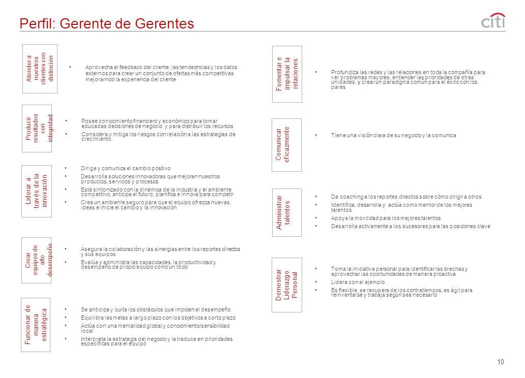 Perfil: Gerente de Gerentes