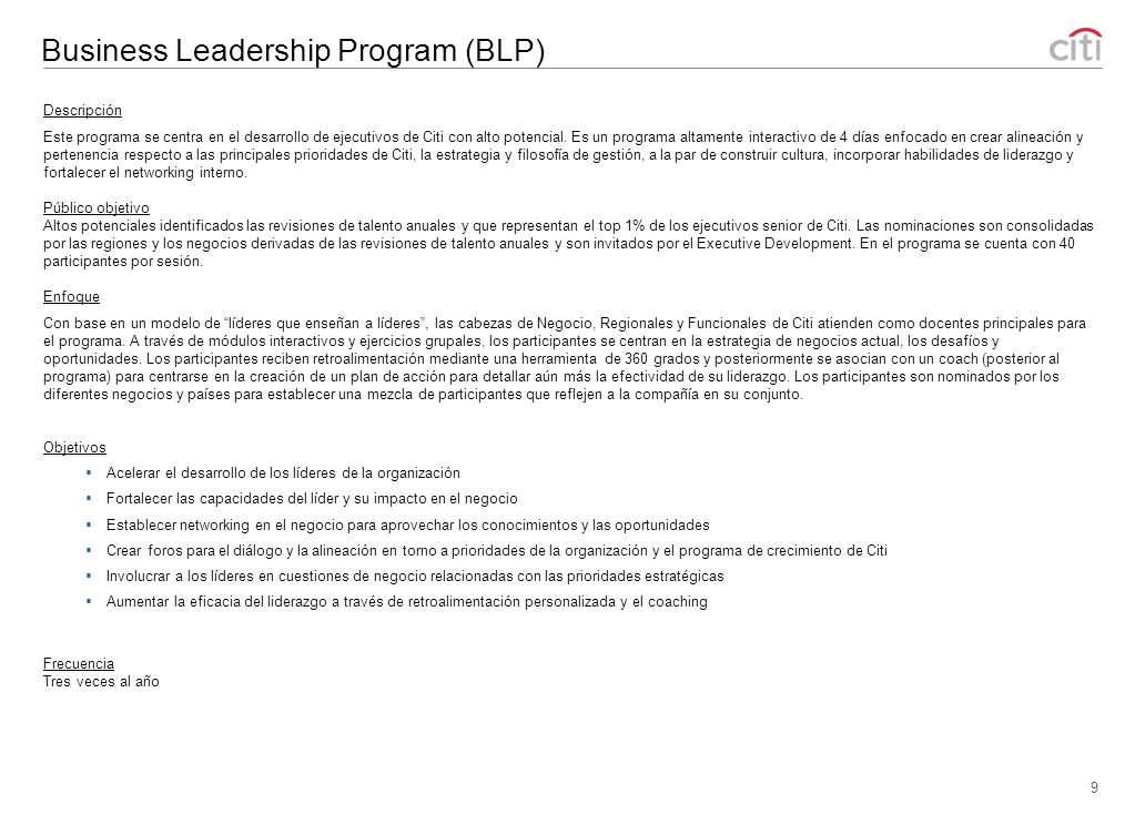 Business Leadership Program (BLP)